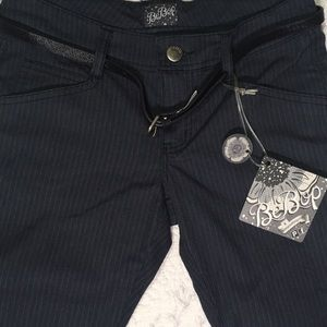 NWT Be Bop pants with belt and front pockets